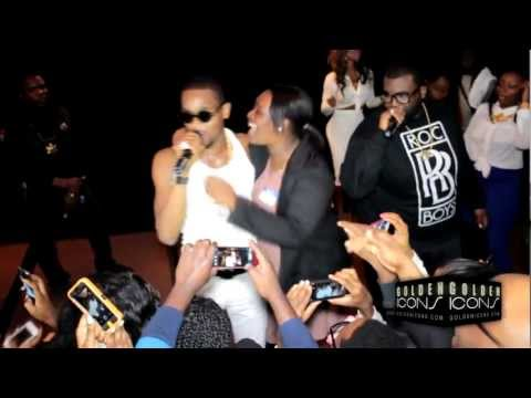 Video: Dbanj and Kenya Moore On stage