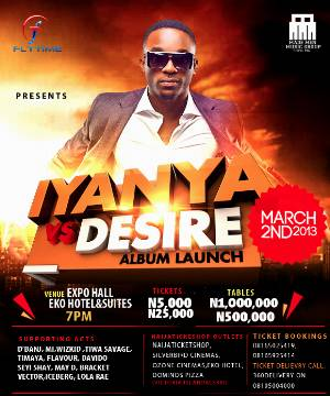 Iyanya's concert ft D'banj, MI, Wizkid, holds tomorrow at Eko hotel