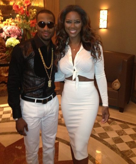 D'banj and former Miss USA Kenya Moore in Houston